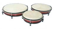 Lot de 3 tambours de sol