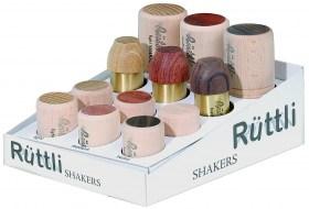 Présentoir de 12 shakers bois et métal