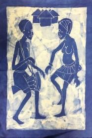 Batik Joueur de djembé