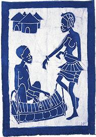 Batik Joueur de balafon