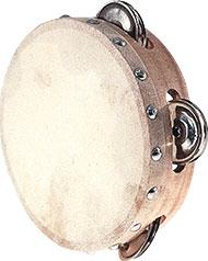 Tambourin ø 15 cm avec cymbalettes