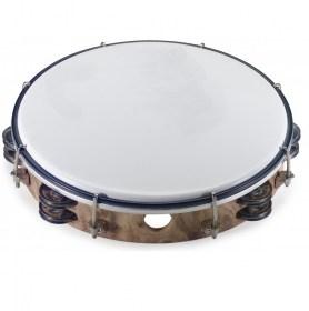 Tambourin avec double rang de cymbalettes ø 25 cm