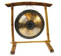 Portique en bambou pour gong ou tam-tam pour ø 45 cm