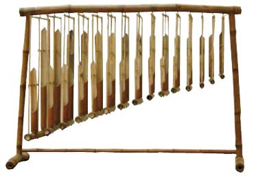 Angklungs  Jeu diatonique de 2 octaves
